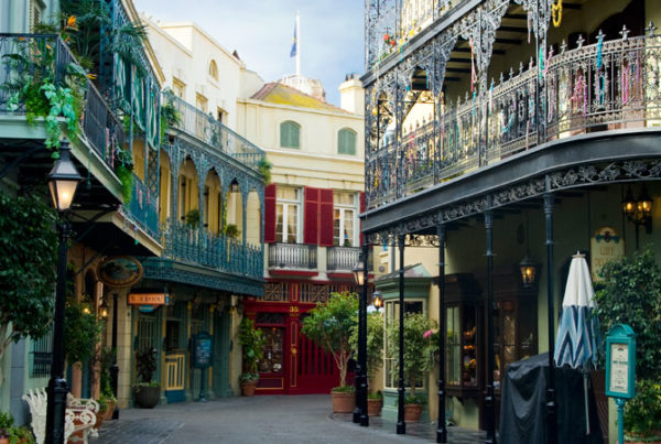 A Disneyland Legionnaires' disease outbreak has sickened nine visitors, and theme park officials have shut down two cooling towers behind New Orleans Square (pictured).