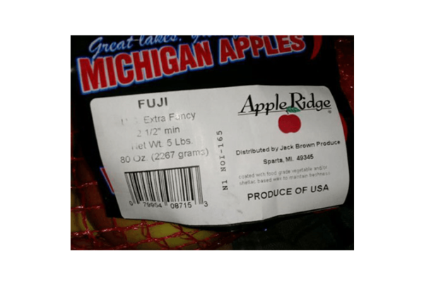 Michigan-based Jack Brown Produce has recalled potentially contaminated apples.