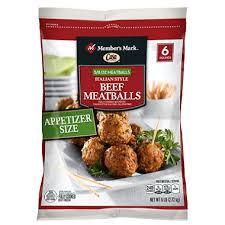 Member's Mark meatballs