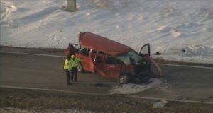 school van collision