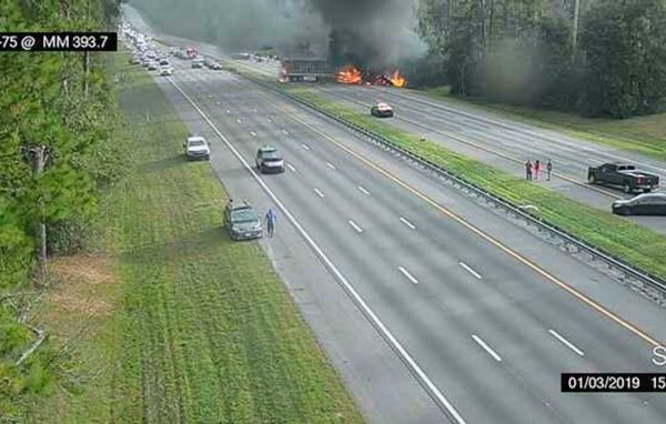 Fiery crash in north Florida kills 7, including 5 children