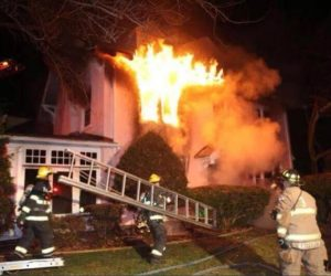 Lansdowne home explosion sends worker to hospital with burn injuries